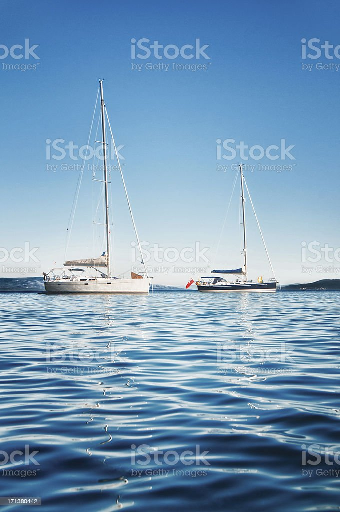 Sailing on the Open Sea royalty-free stock photo