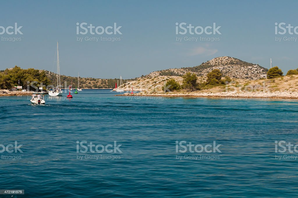 Sailing on the sea, Kornati National Park, Croatia royalty-free stock photo