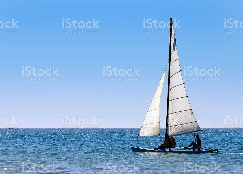 Sailing Out to Sea stock photo