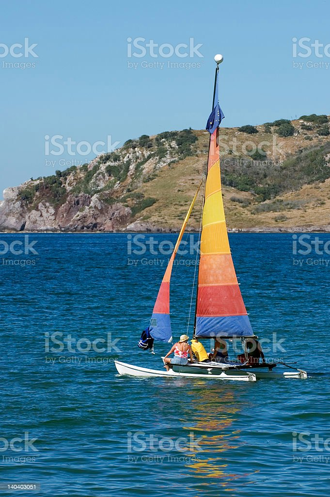 Sailing Out to the Island - Mazatlan Mexico stock photo