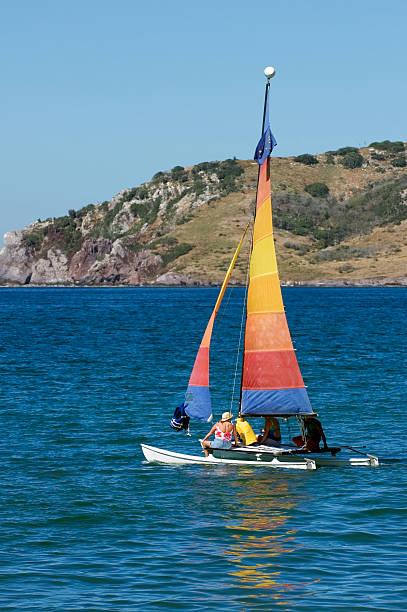 Sailing Out to the Island - Mazatlan Mexico stock photo