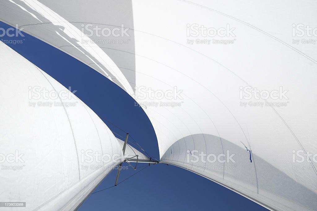 Segeln - Lizenzfrei Aufnahme von unten Stock-Foto