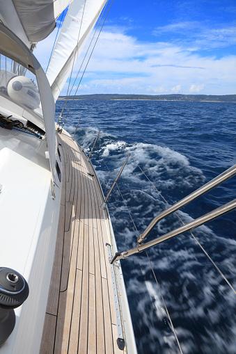 Sailing near the Hvar island-Croatia