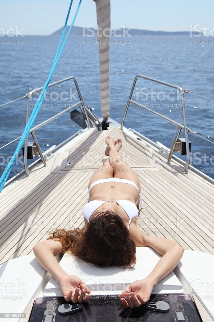 Navigation à voile  photo libre de droits