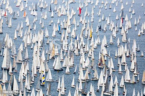 Biggest annual sailing regatta on the world Barcolana.