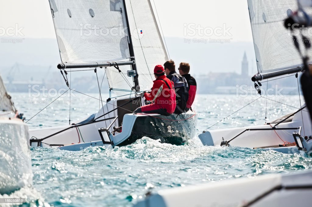sailing regatta stock photo