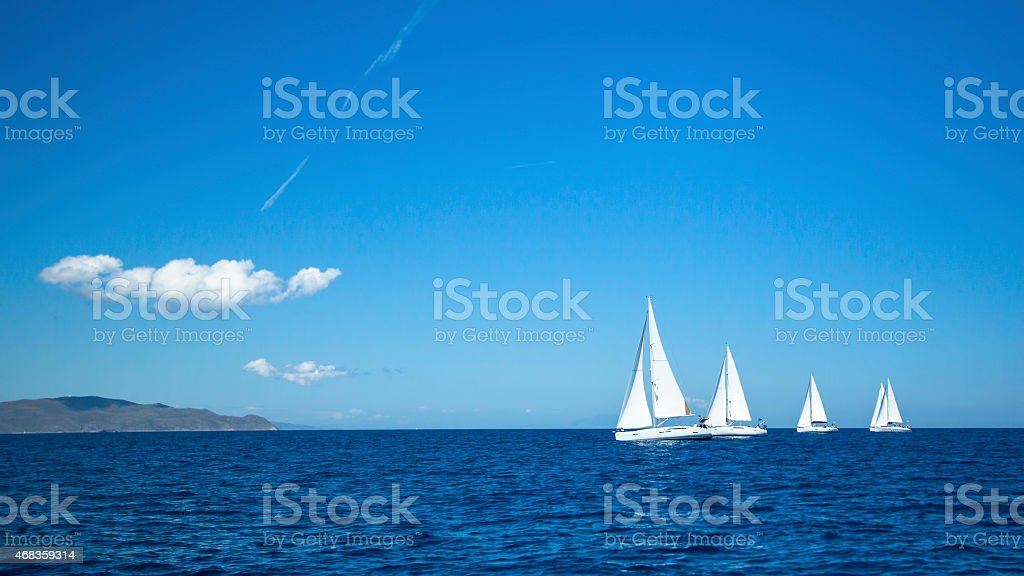 Sailing regatta. Yachting. Luxury yachts. royalty-free stock photo