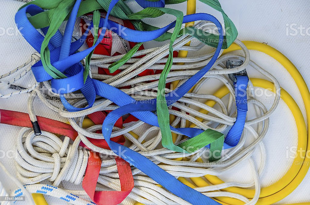 Sailing Ropes in Colour. royalty-free stock photo