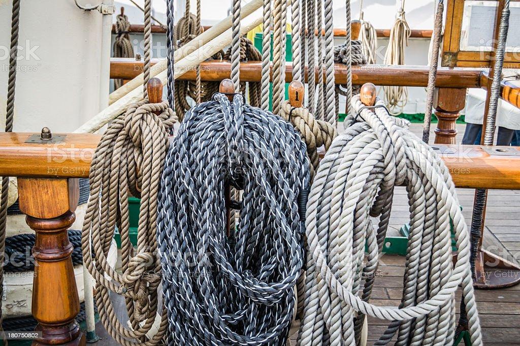 Sailing Ropes royalty-free stock photo