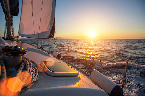 sailing ship luxury yacht boat in the sea - katamaran bildbanksfoton och bilder