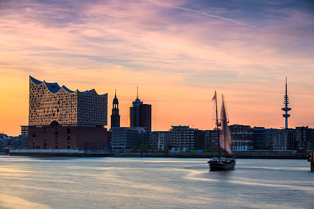 Sailing ship on the river Elbe – Foto