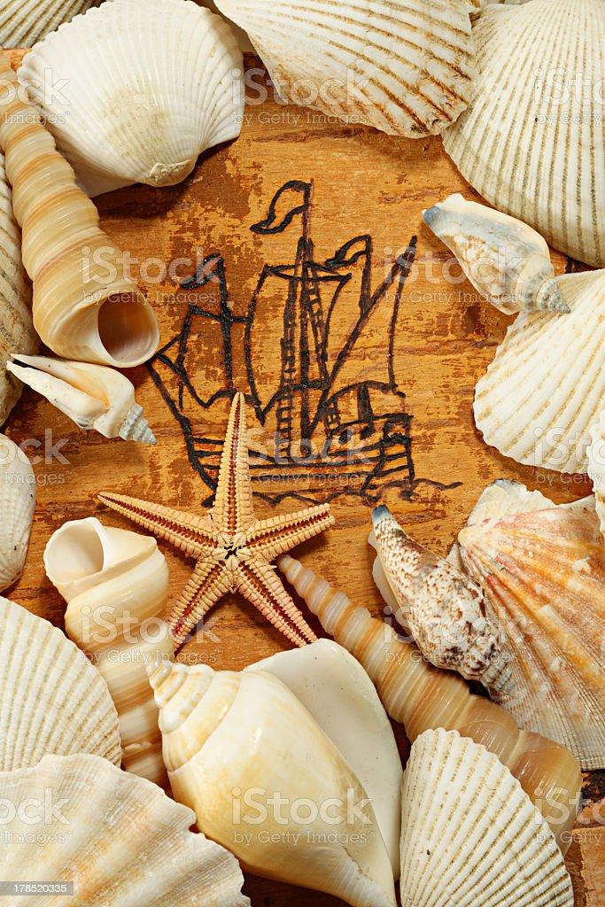 Sailing ship royalty-free stock photo