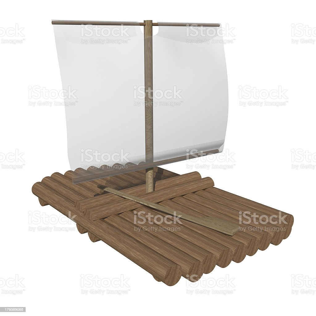 sailing ship raft royalty-free stock photo