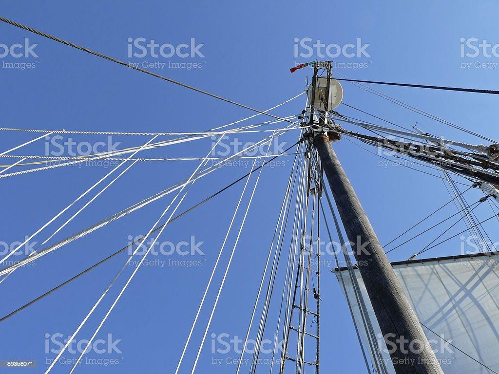 Navire à voiles takelage photo libre de droits