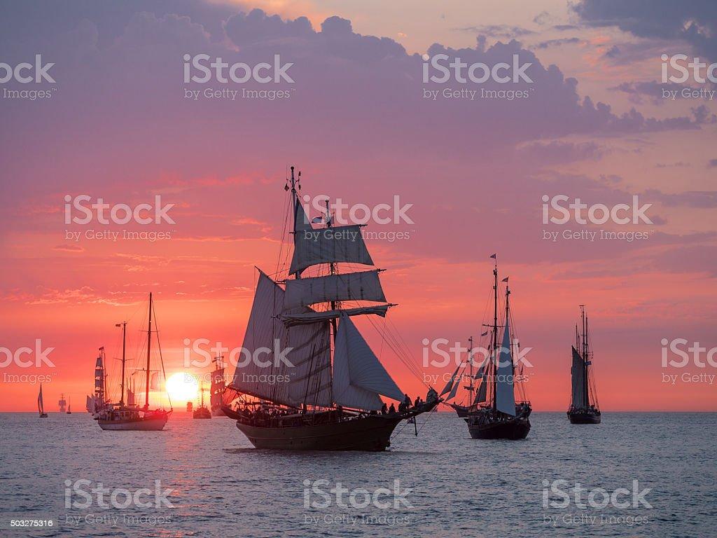 Segeln Schiffe auf der Ostsee – Foto