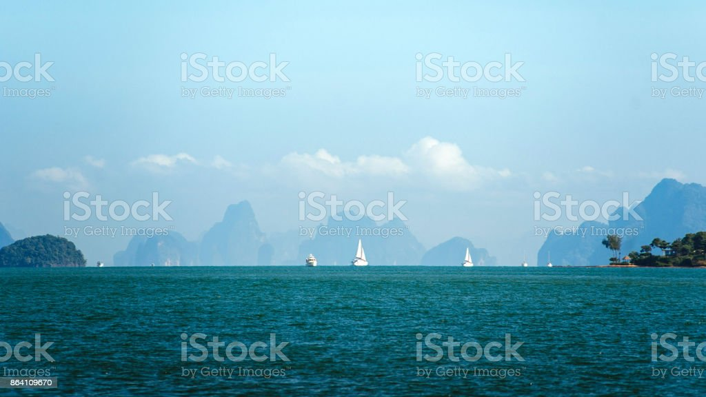 Sailing ships on the horizon royalty-free stock photo