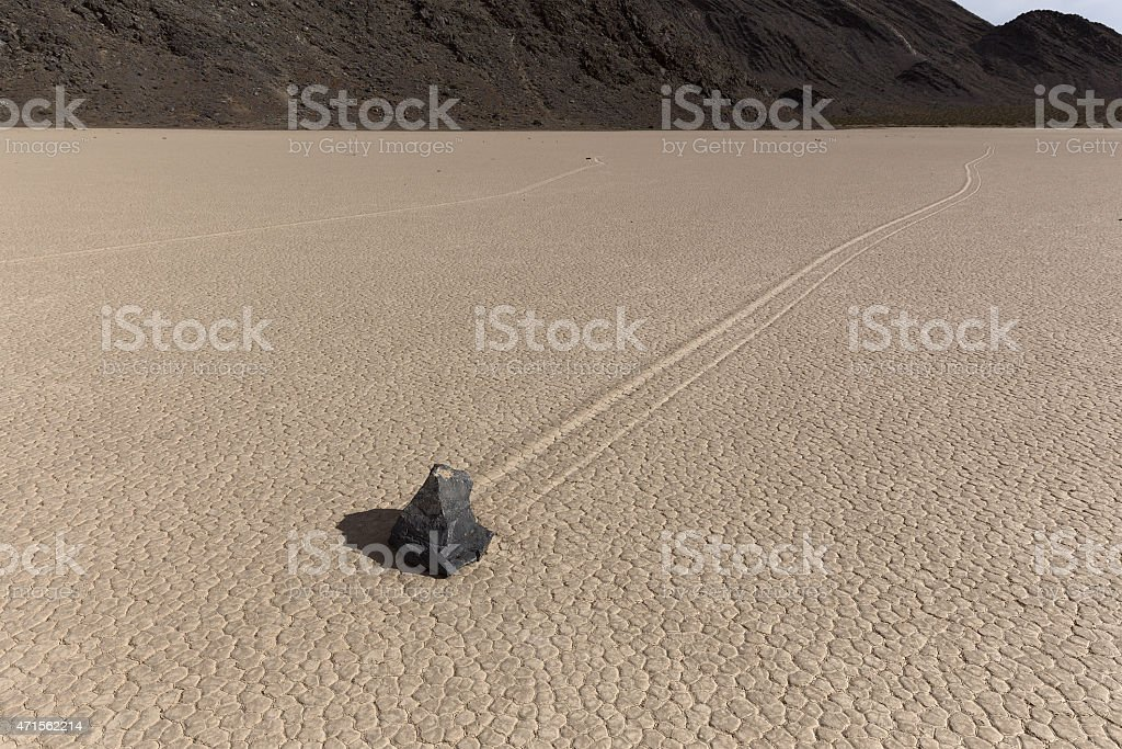 Sailing Stone of Death Valley National Park stock photo