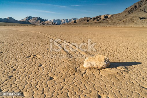The Racetrack Playa is a scenic dry lake located above the northwestern side of Death Valley, in Death Valley National Park, Inyo County, California with