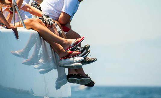 Sailing team legs