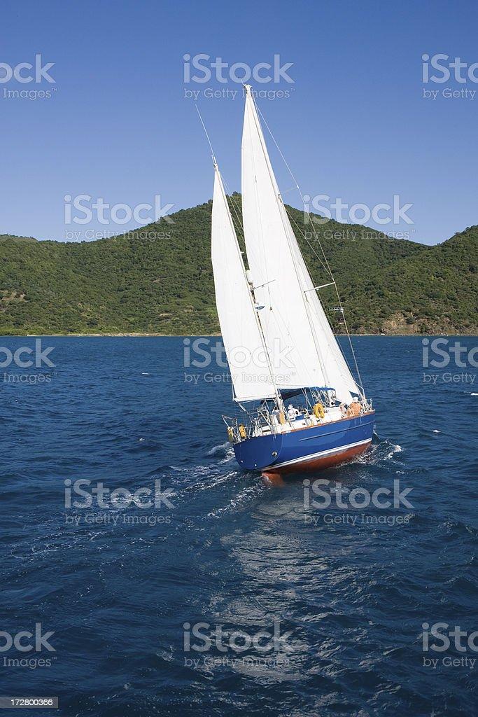 Sailing the Caribbean royalty-free stock photo