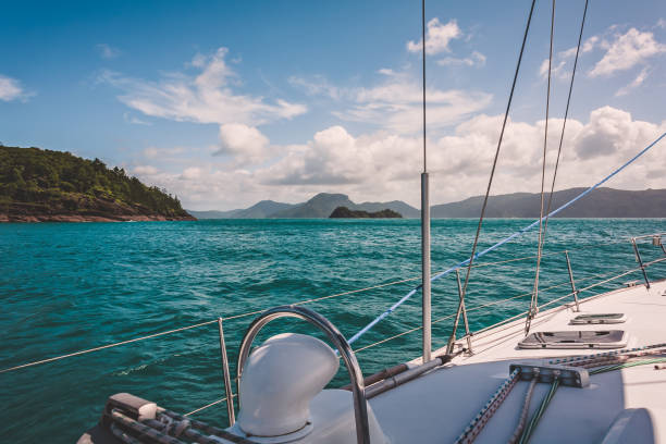 Sailing the Great Barrier Reef stock photo