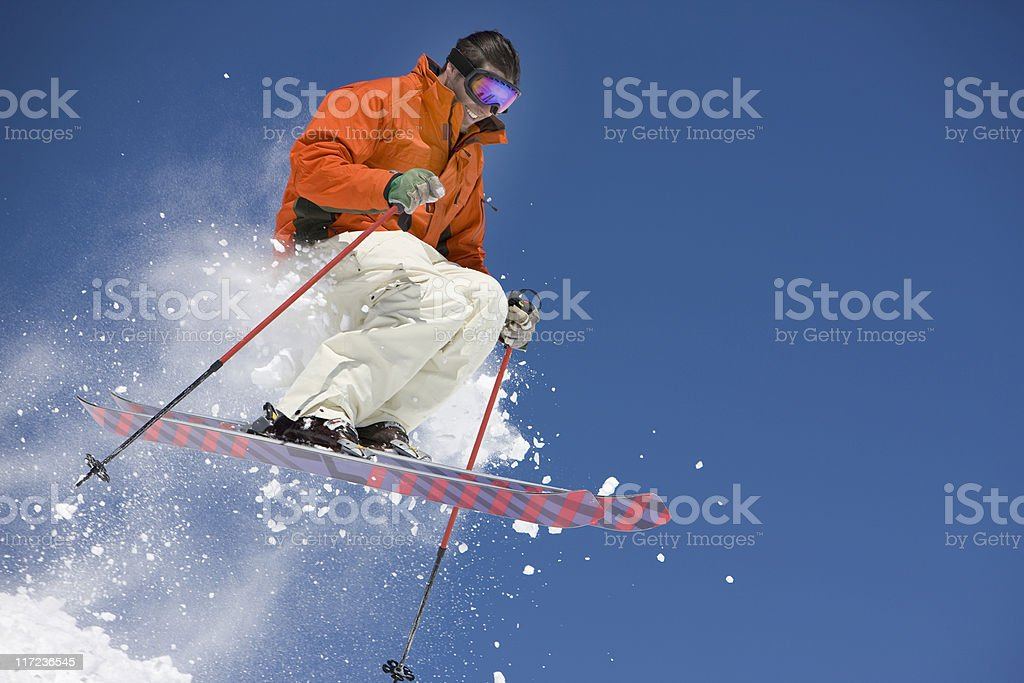 Sailing Through The Air On A Snowboard royalty-free stock photo
