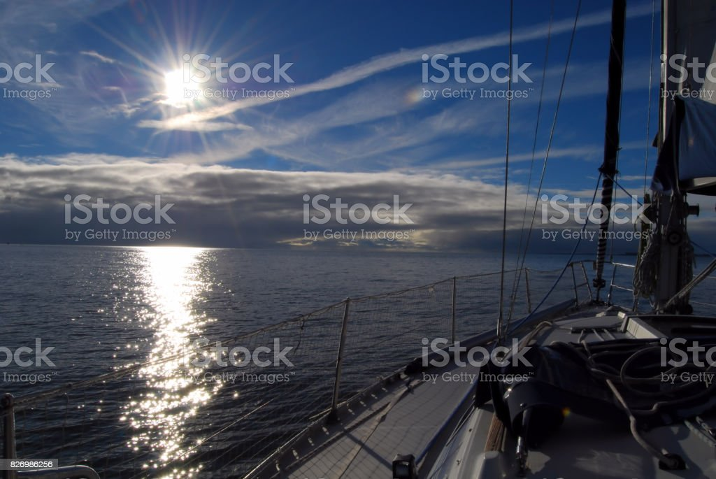 Sailing to the Clouds. stock photo