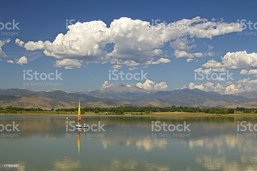Sailing to the Rockies stock photo