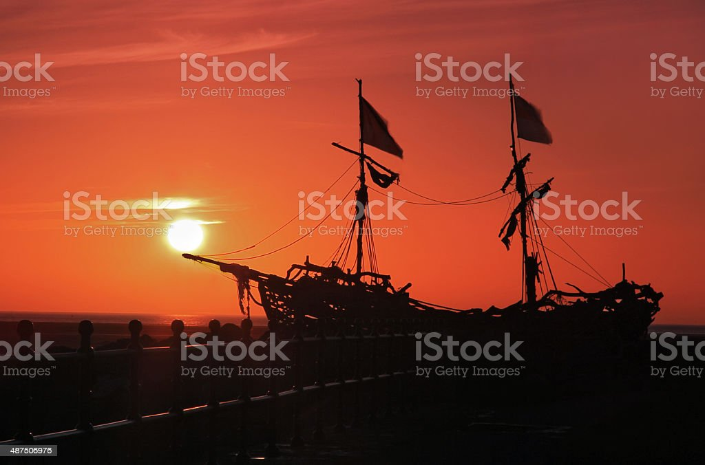 Sailing Towards The Sunset royalty-free stock photo