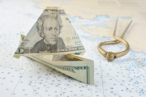 Sailing Uncharted Waters American Currency Stock Photo - Download Image Now  - iStock