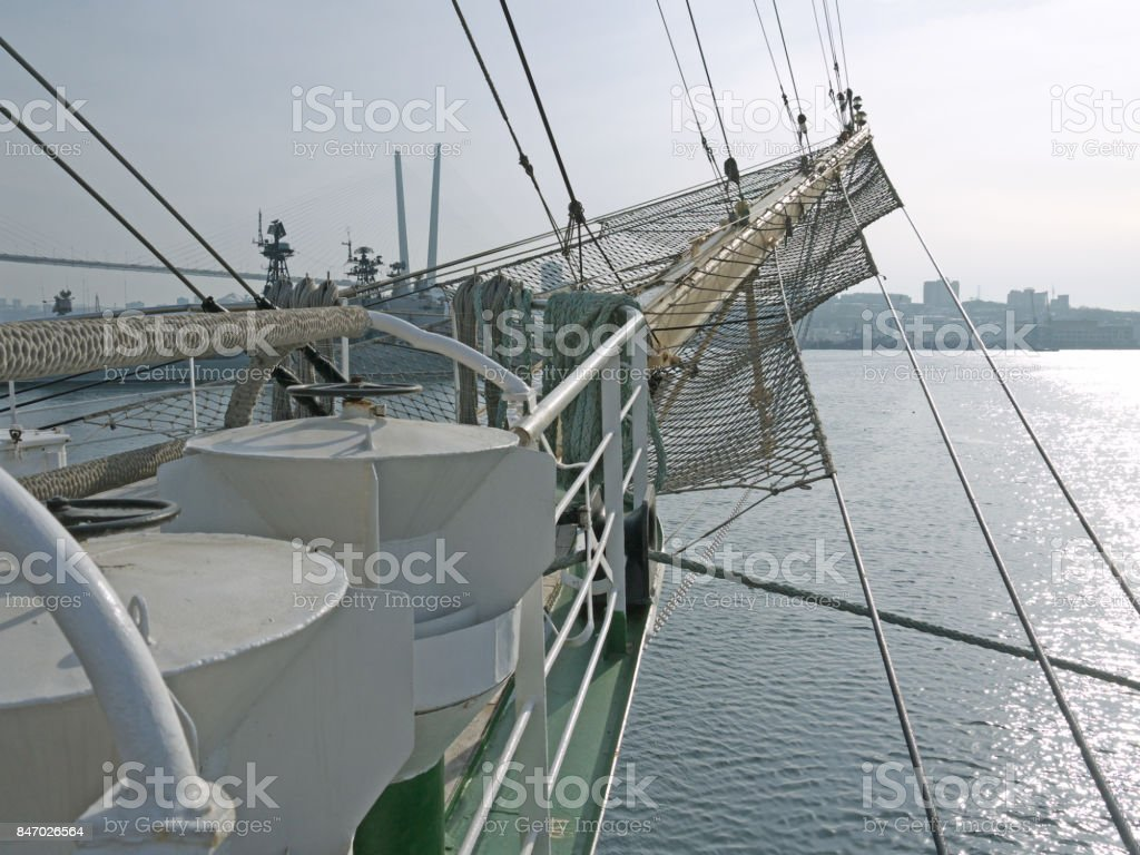 sailing vessel bowsprit stock photo