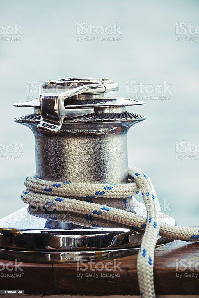Sailing Winch stock photo