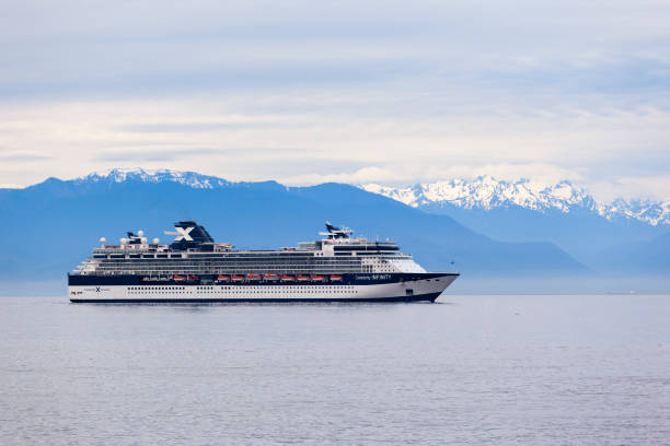 Sailing  with Cruise Liner  -  Victoria. stock photo
