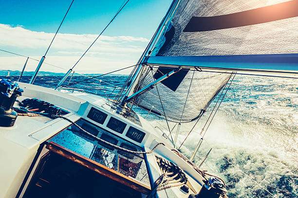 Navegación a vela  - foto de stock