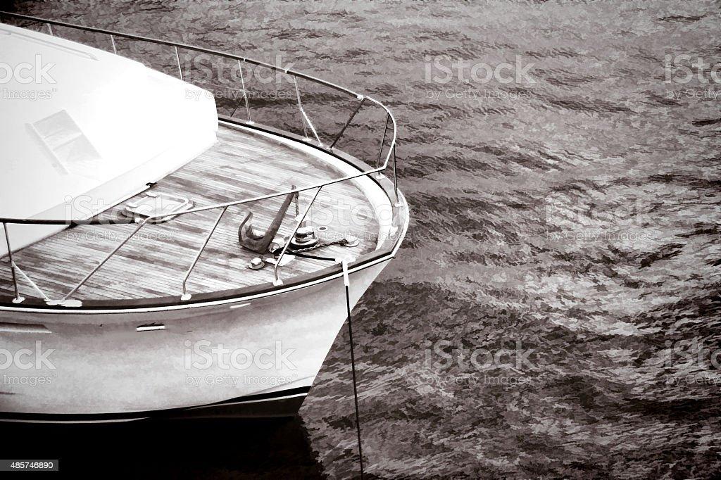 Sailing with sailboat - Stock Image stock photo