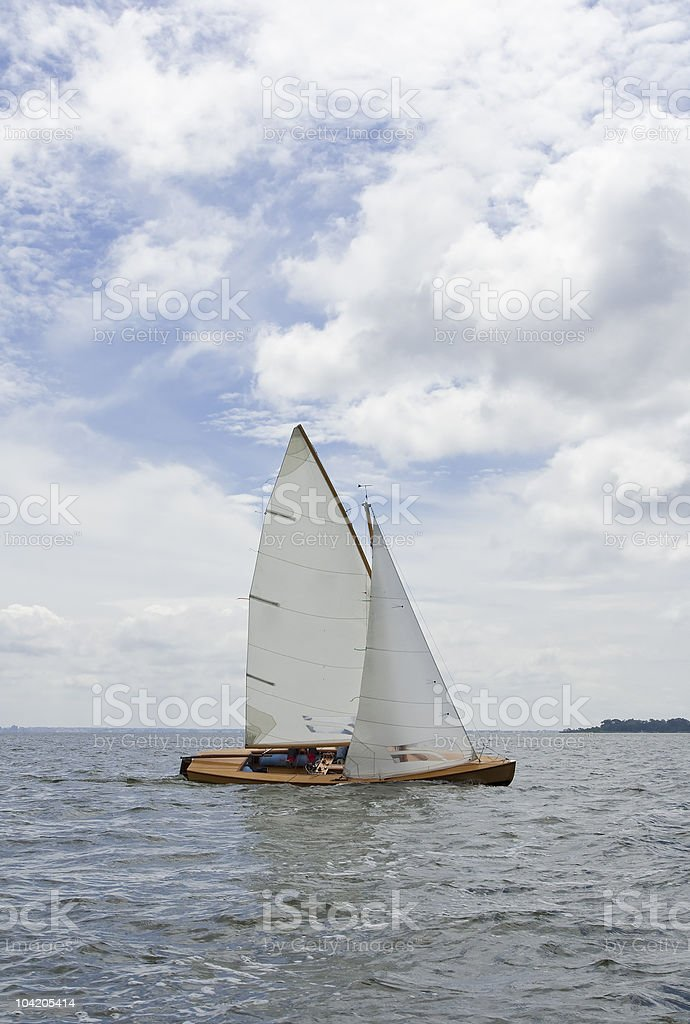Sailing with sharpie royalty-free stock photo
