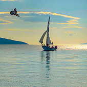 Sailing Wooden Yacht