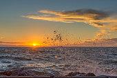 The photo was shoot on La Manga, Murcia region, Spain. There is Mar Menor  on the photo. 11/04/2017