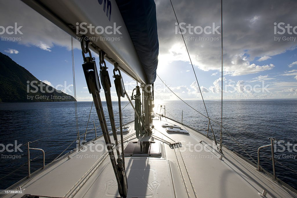 Sailing yacht. royalty-free stock photo