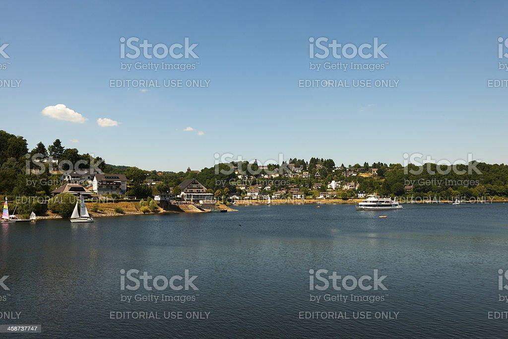 Sailingboats on the Rursee, Germany royalty-free stock photo