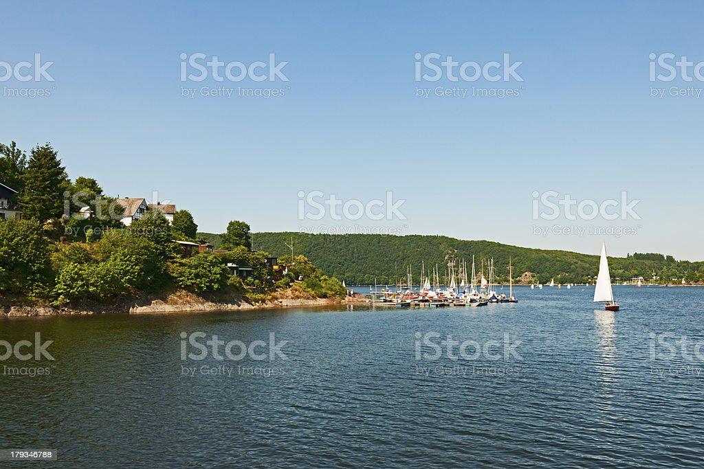 Sailingships on Rursee royalty-free stock photo