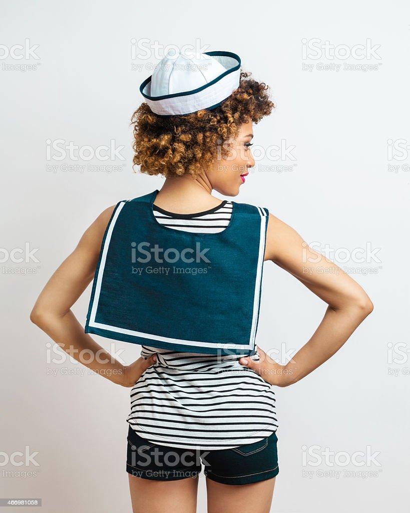 Sailor Afro Woman stock photo