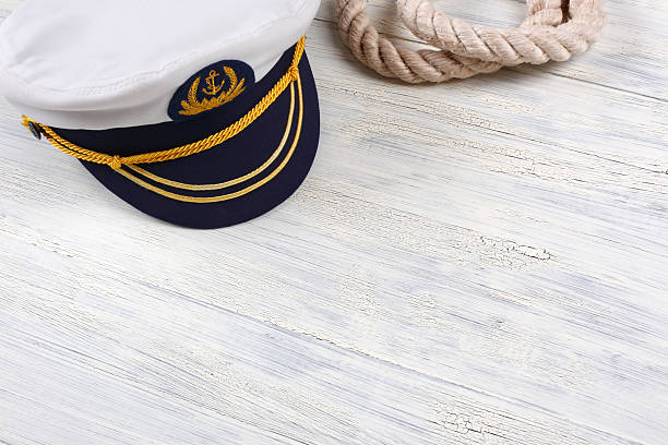 Sailor Background Sailor background with cap sailor hat stock pictures, royalty-free photos & images