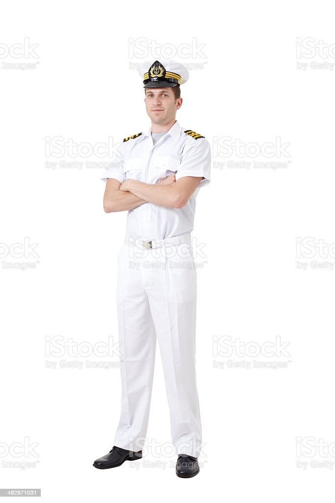 Sailor captain stock photo