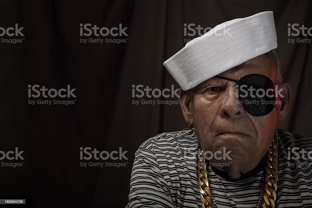 Sailor grandfather stock photo