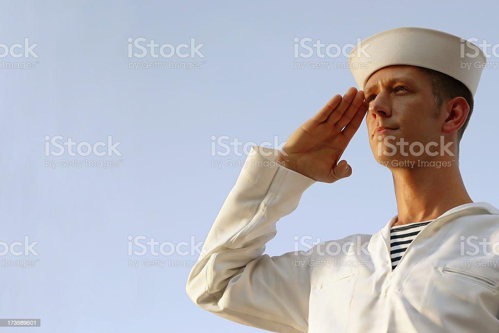 Sailor Salute stock photo