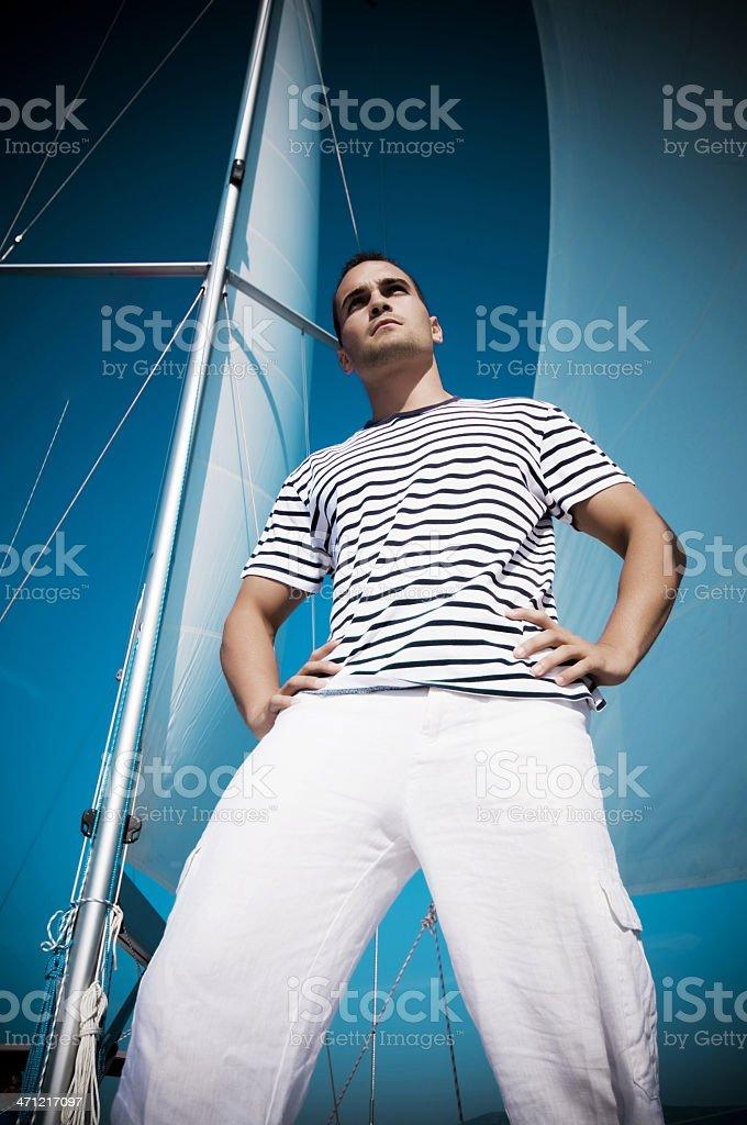 Sailor Young Man royalty-free stock photo