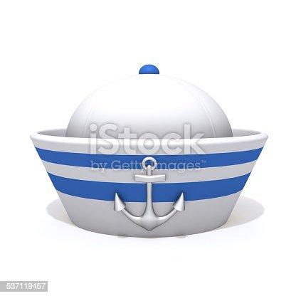 istock Sailorman hat 3d illustration 537119457