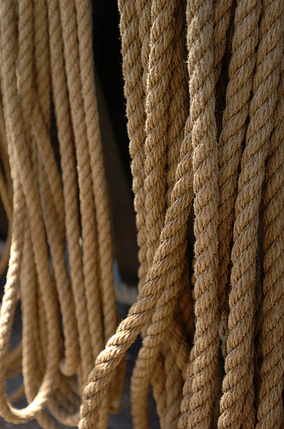 Sailor's rope stock photo