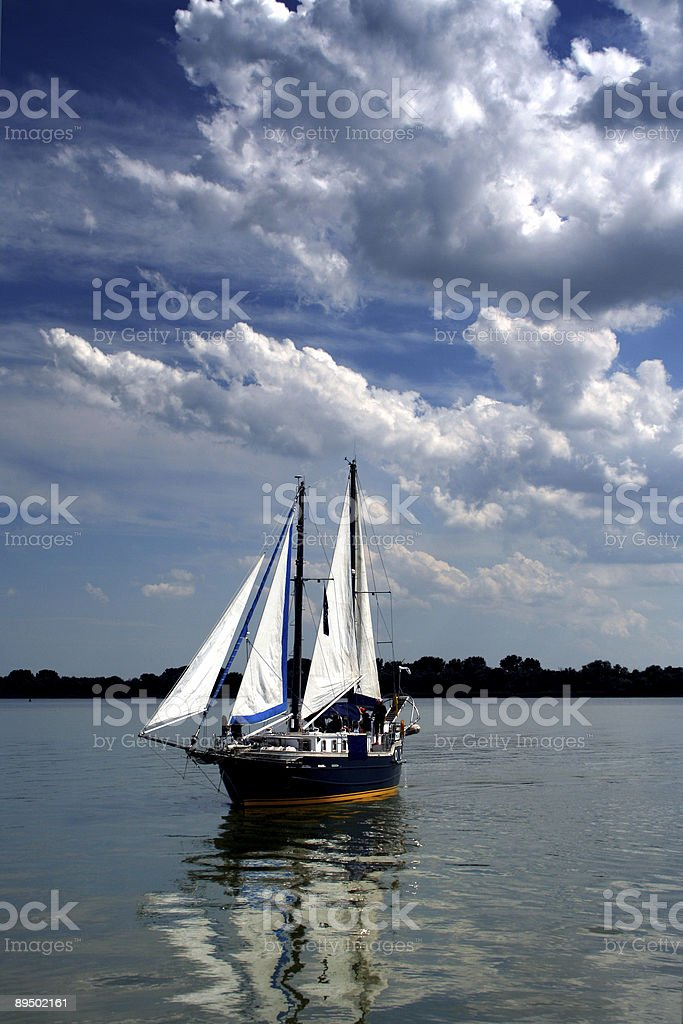 Sails and sky royalty-free stock photo